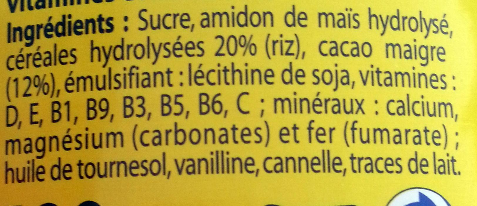 Mon Premier Nesquik - Ingredients - fr