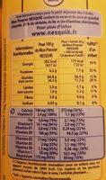 Mon Premier Nesquik - Nutrition facts - fr