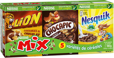 CEREALES NESTLE MIX 190G - VARIETES DE CEREALES (Crunch, Chocapic, Cookie Crisp, Lion, Nesquik, Chokella) - Product - fr