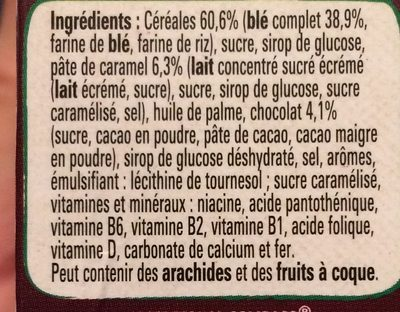 CEREALES NESTLE MIX 190G - VARIETES DE CEREALES (Crunch, Chocapic, Cookie Crisp, Lion, Nesquik, Chokella) - Ingredients - fr