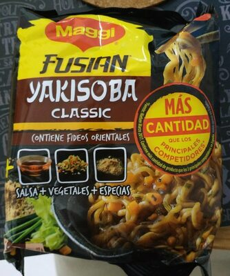 Fusian Yakisoba fideos orientales sabor classic sobre 120 g - Producto