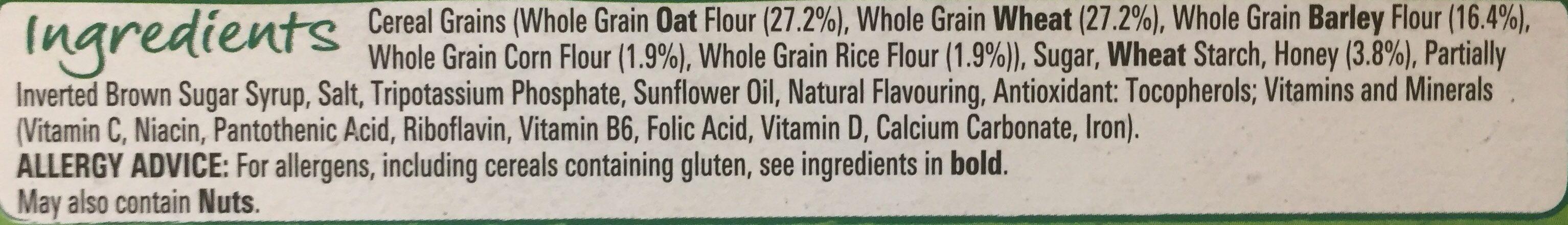 Honey Cheerios - Ingredientes - en