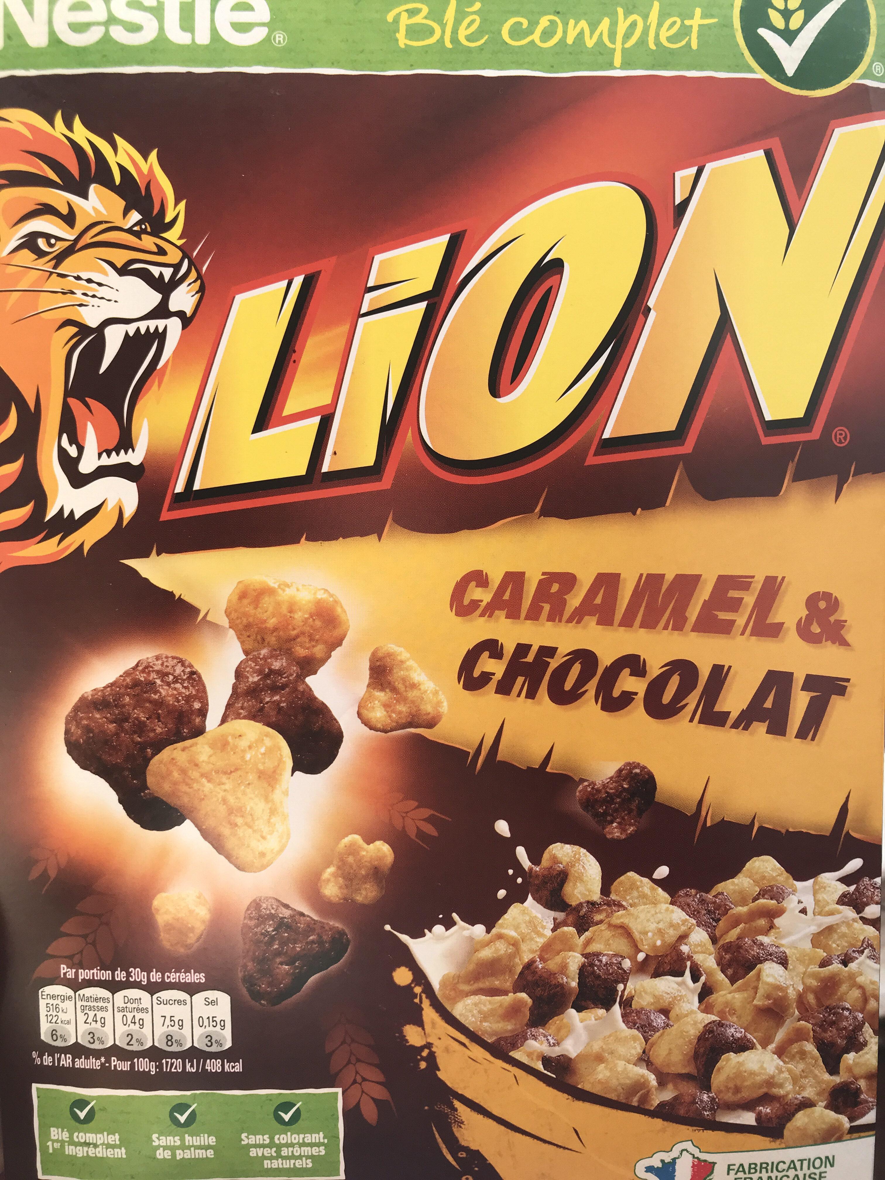 Céréales Lion caramel & chocolat - Product - en