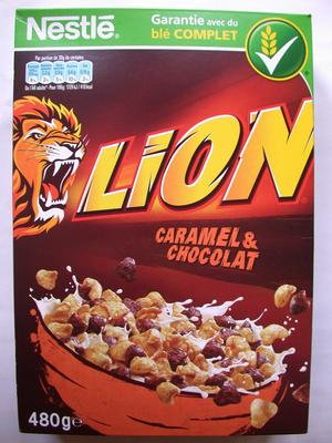 Céréales Lion caramel & chocolat - Product