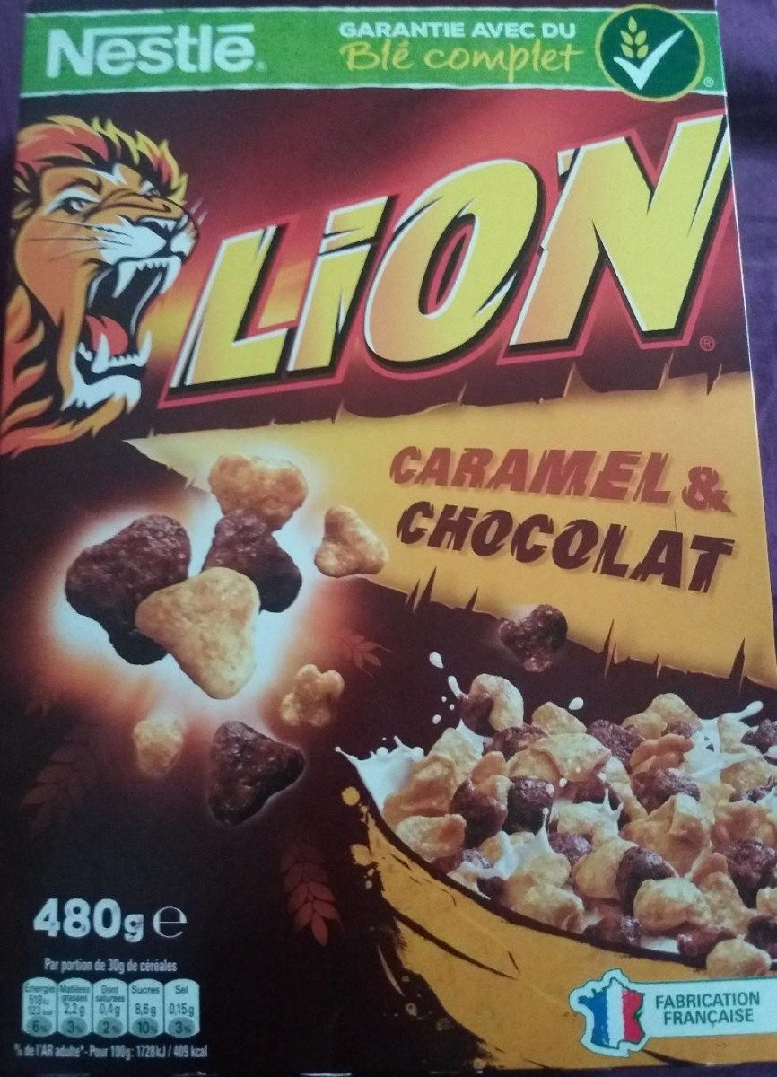 Céréales Lion caramel & chocolat - Produit - fr