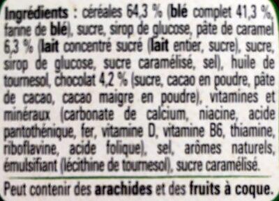 Céréales Lion caramel & chocolat - Ingrédients - fr