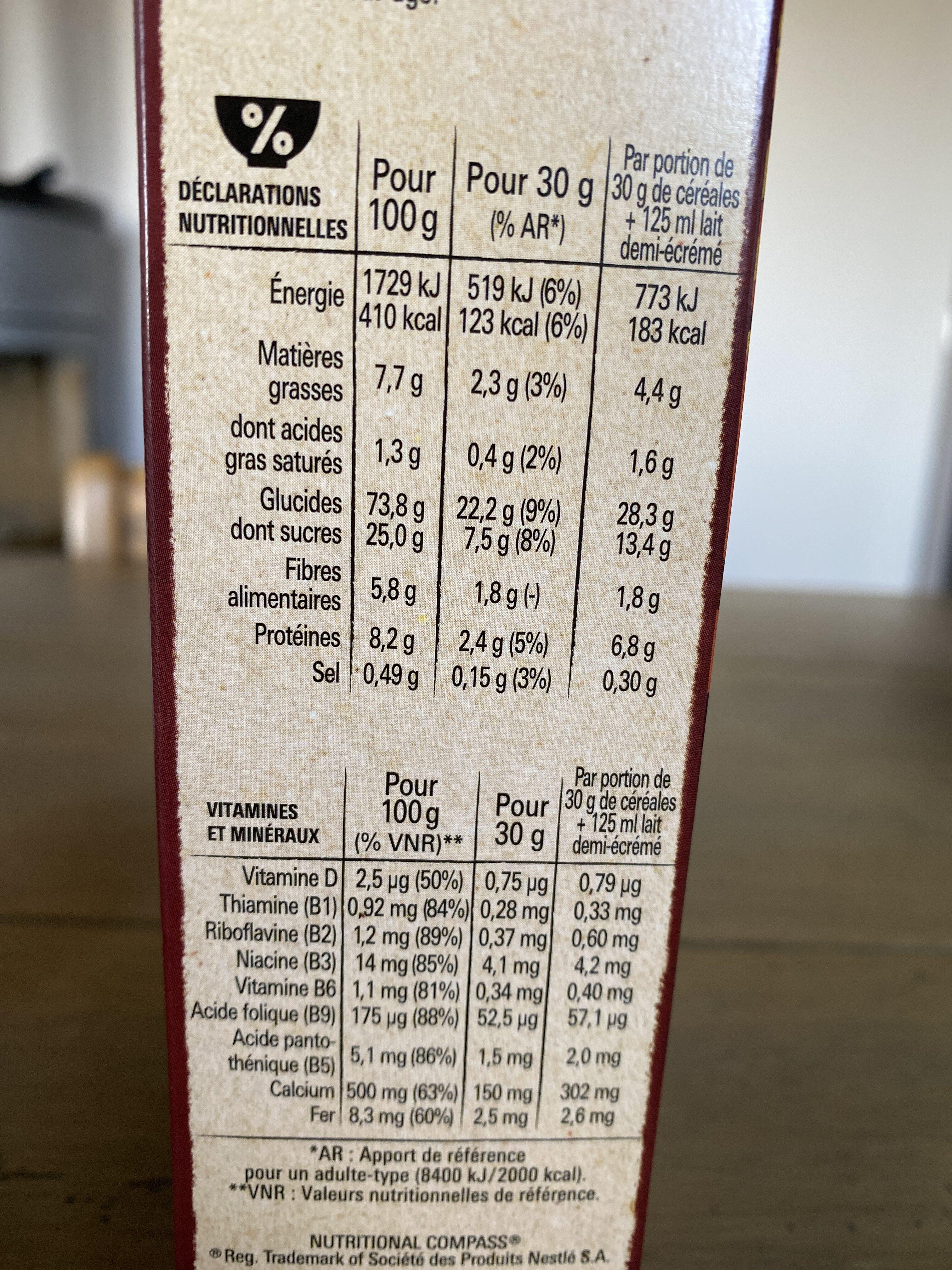 Céréales Lion caramel & chocolat - Informations nutritionnelles - fr