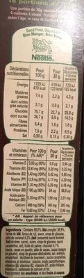 Céréales Lion caramel & chocolat - Nutrition facts