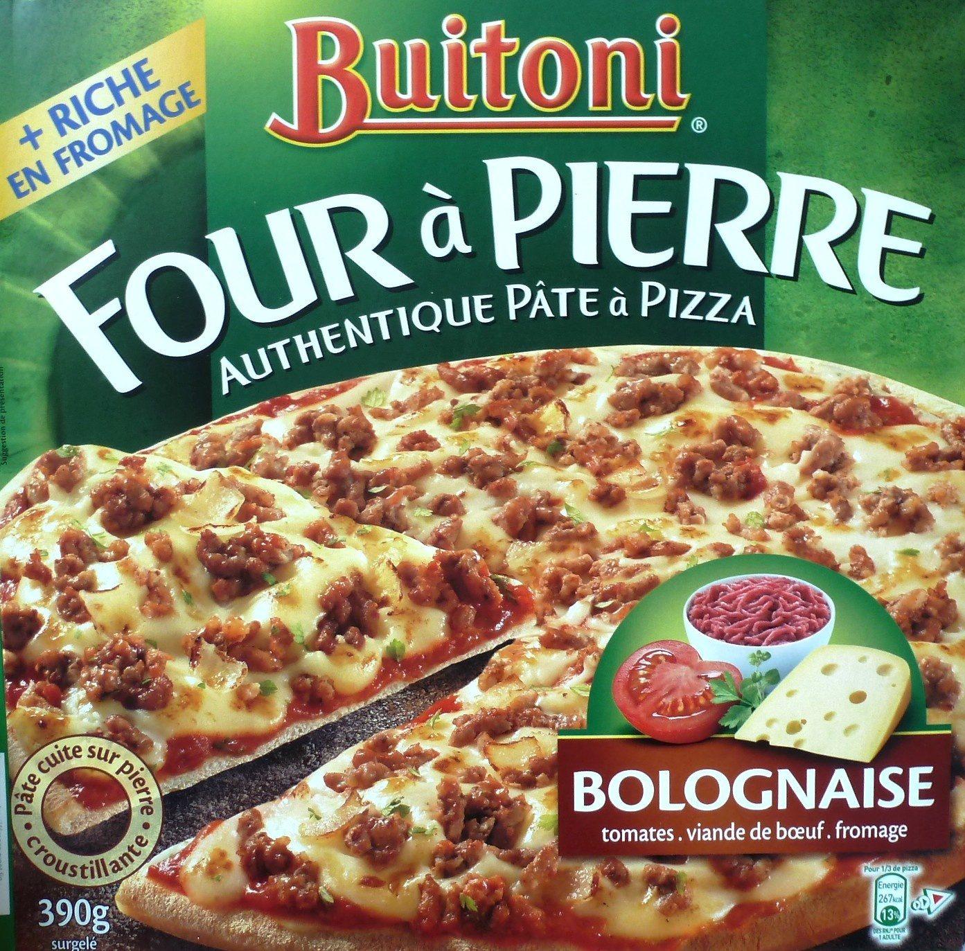 four pierre authentique p te pizza bolognaise buitoni 390 g. Black Bedroom Furniture Sets. Home Design Ideas