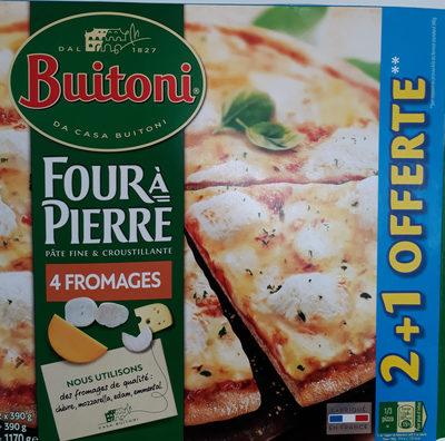 Buitoni Pizza Four à Pierre 4 Fromages x2 +1 Gratuite -1.17k - Produit