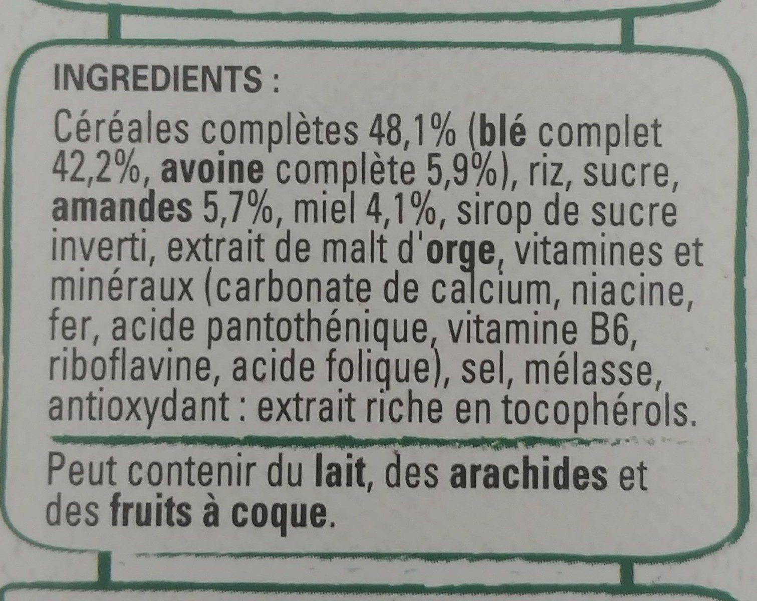 FITNESS Miel amandes - Ingrediënten - fr