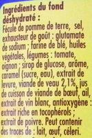 Fond de Veau pour Sauces et Cuissons - Ingrédients