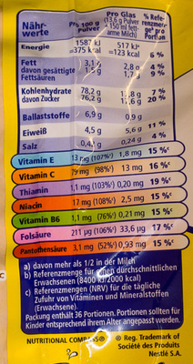 Nesquik - Nutrition facts