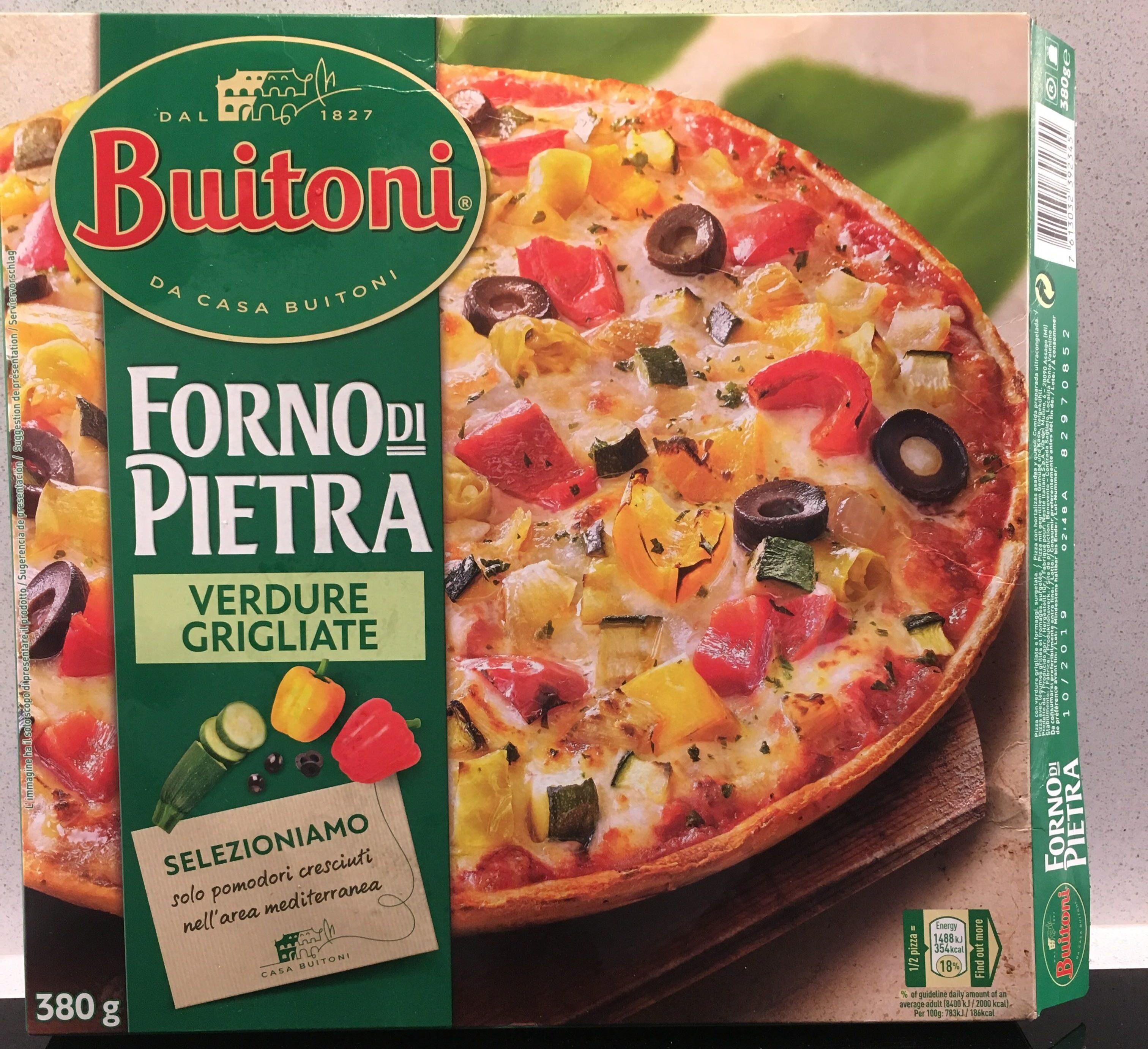 Pizza vegetal calabacín pimientos y aceitunas - Producto - es