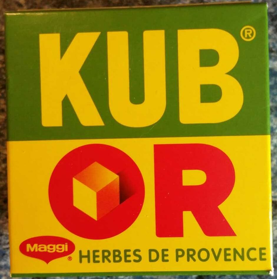 Kub Or, herbes de Provence - Maggi - Product - fr