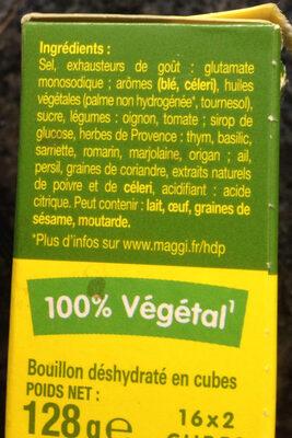 Kub Or, herbes de Provence - Maggi - Ingrediënten - fr