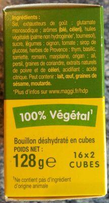 Kub Or, herbes de Provence - Maggi - Voedingswaarden