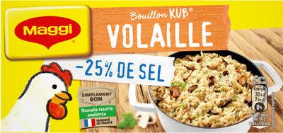 Bouillon Kub de Volaille (-25% de Sel) - Produit