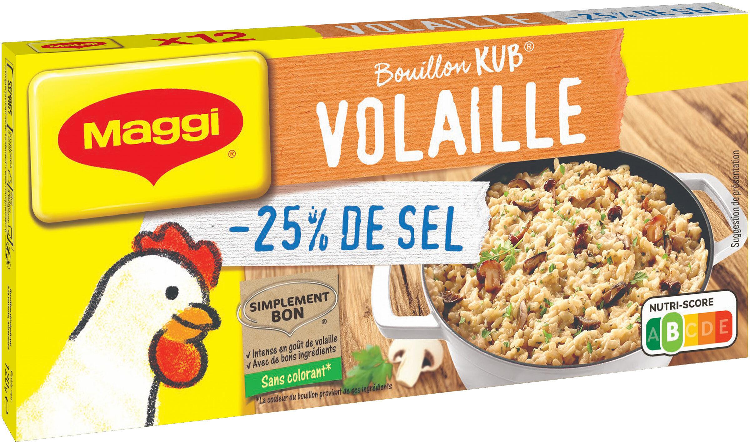MAGGI Bouillon KUB Volaille Réduit en sel de -25% - Prodotto - fr