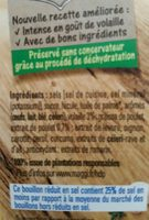 Bouillon Kub de Volaille (-25% de Sel) - Ingredients