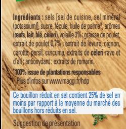 MAGGI Bouillon KUB Volaille Réduit en sel de -25% - Ingrediënten - fr
