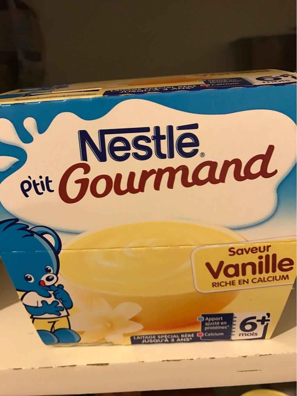 Dessert P'tit Gourmand Nestlé, Vanille 6 Mois - Valori nutrizionali - fr