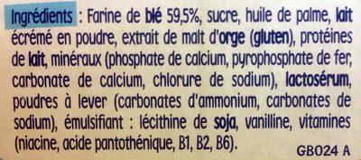 P'tit Biscuit - Ingredients - fr