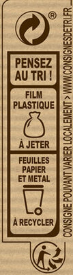 NESTLE DESSERT Chocolat au Lait Caramel - Recycling instructions and/or packaging information