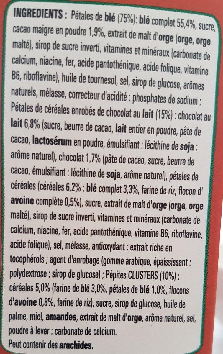 Clusters chocolat - Ingrédients - fr