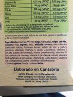 Papilla de cereales azúcares añadidos y sin aceite - Ingredienti - es