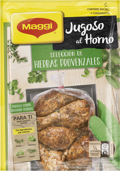 Jugoso al horno pollo a las hierbas provenzales - Produit - fr