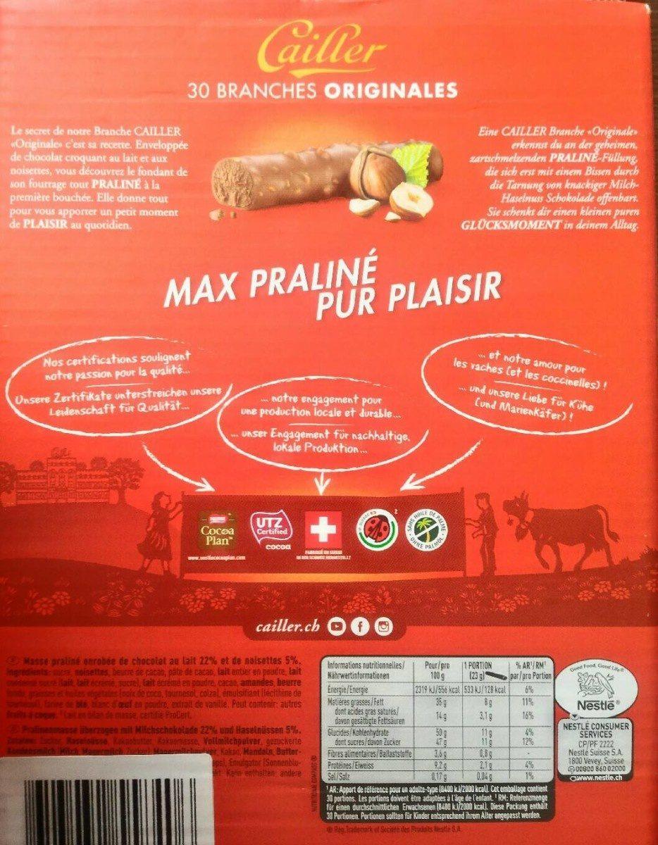 Branche au chocolat suisse - Produit - fr