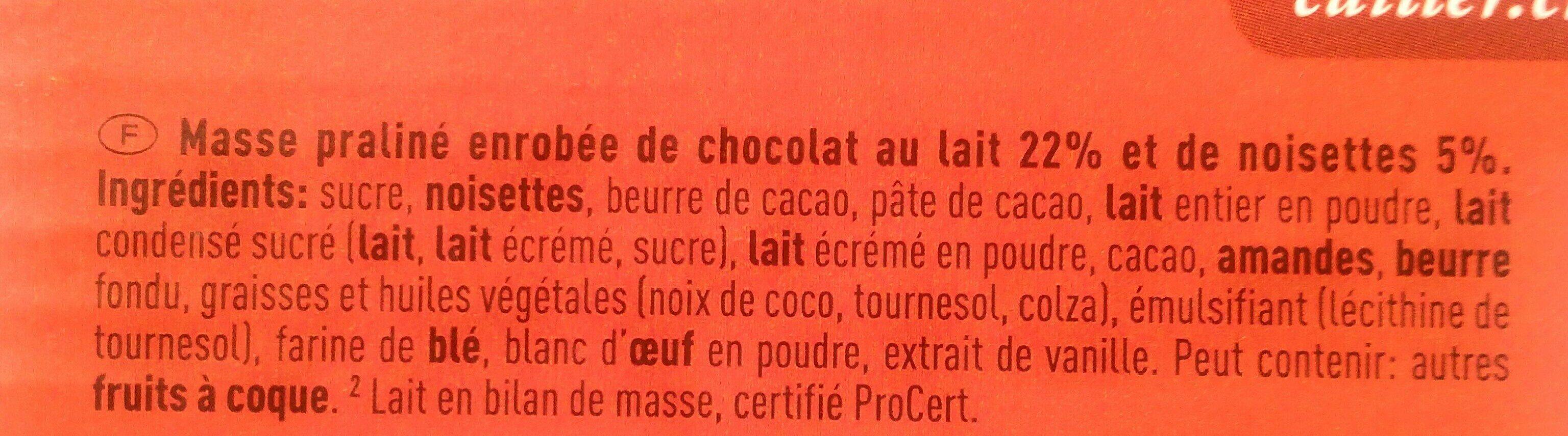 Branche au chocolat suisse - Ingrédients - fr