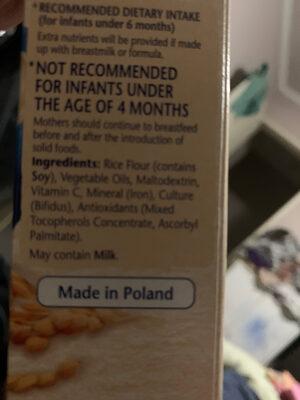 Cerelac - Ingredients - en