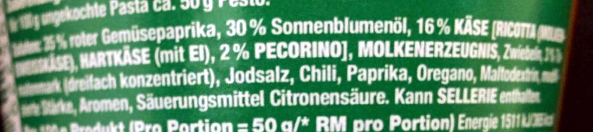 Pesto all arrabbiata - Ingredienti - de