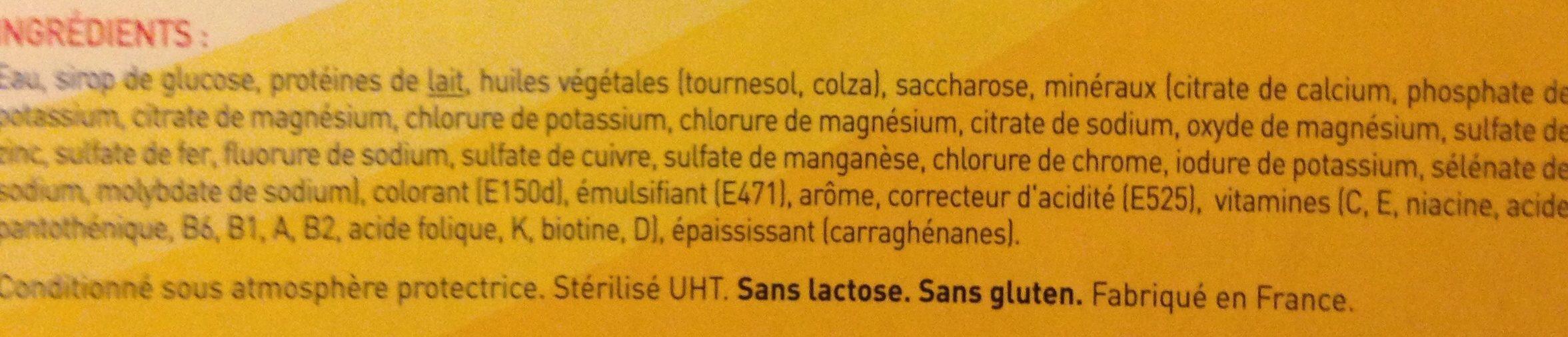 Nestle Renutryl Booster Caramel - 4 Bouteilles ? - Ingrédients - fr
