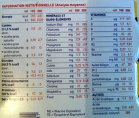Booster saveur vanille - Nutrition facts - fr