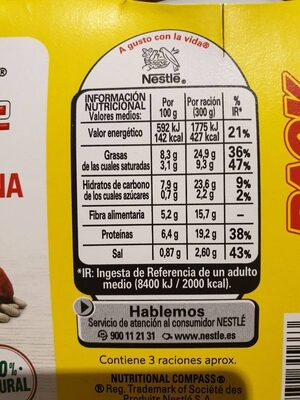 Fabada asturiana - Informations nutritionnelles