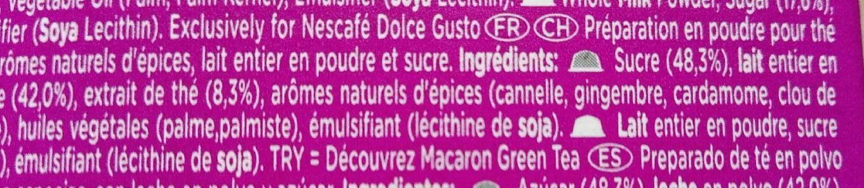 Chai latte - Informations nutritionnelles