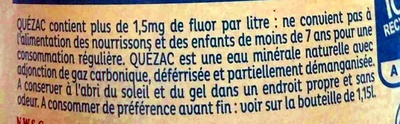 Quézac - Ingrédients - fr