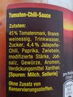 Maggi Texicana Salsa, Extra Hot - Inhaltsstoffe