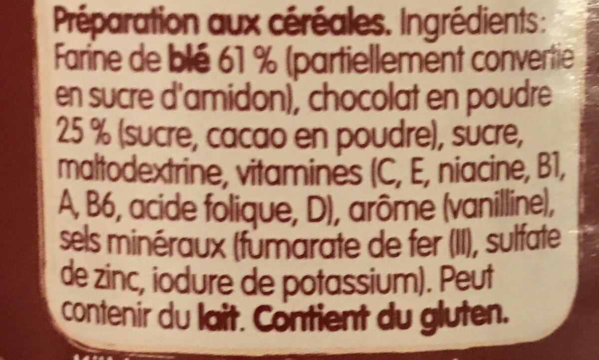 Bébé Poudre de céréales Choco - Ingredients - fr