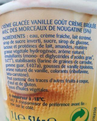 Glace crème brûlée la laitière - Ingrediënten