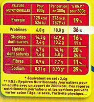 Lasagnes à la Bolognaise - 1 kg - Maggi - Informations nutritionnelles
