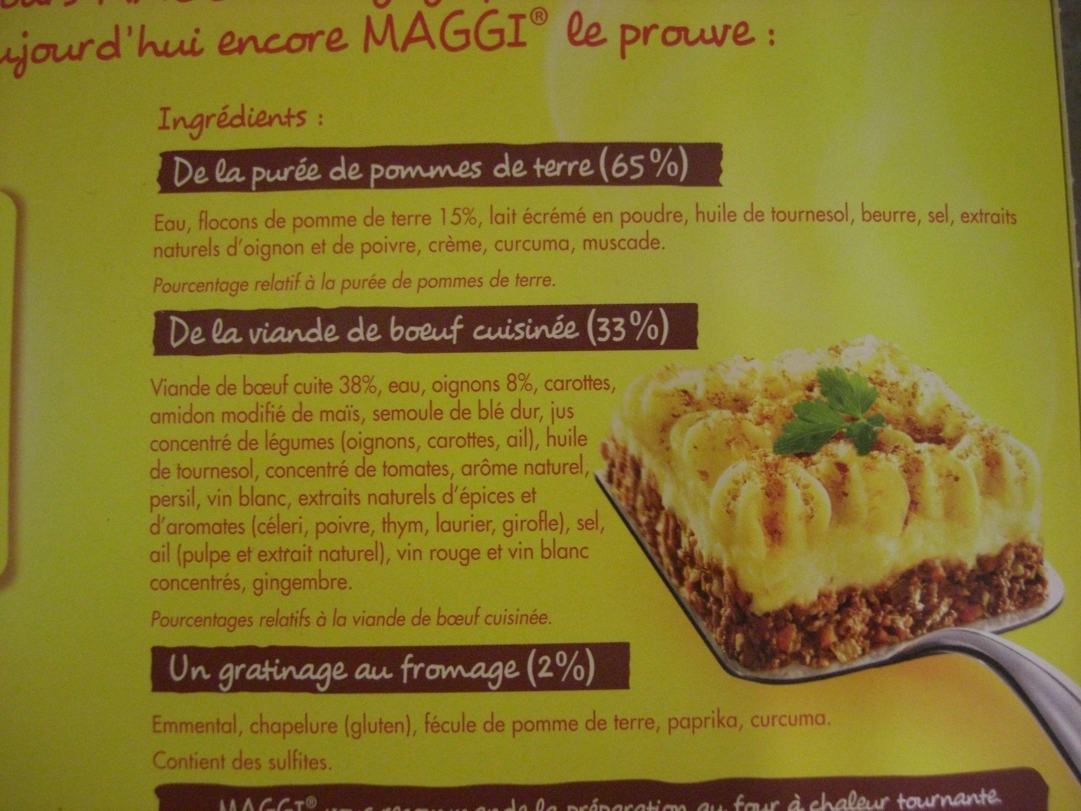Hachis Parmentier - 1 kg - Maggi - Ingrédients - fr