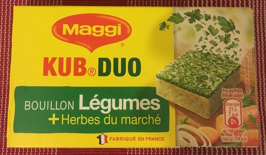 Bouillon KUB® DUO Légumes + Herbes du marché - Product