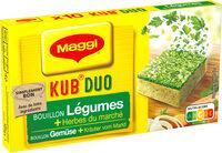 MAGGI Bouillon KUB DUO Légumes + Herbes du marché - Prodotto - fr