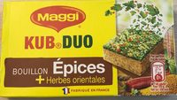 Kub Duo Bouillon épices + herbes orientales) - Product