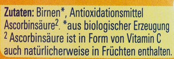 NaturNes Pure Birne - Ingredients