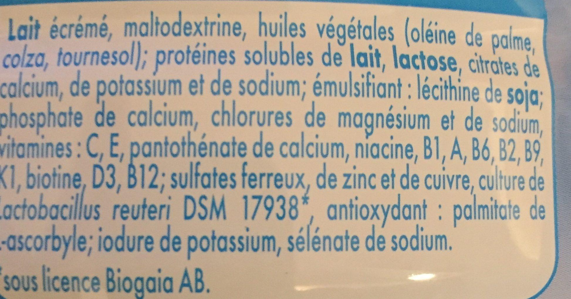 GUIGOZ 3 Lait de Croissance dès 1 an - Ingredienti - fr
